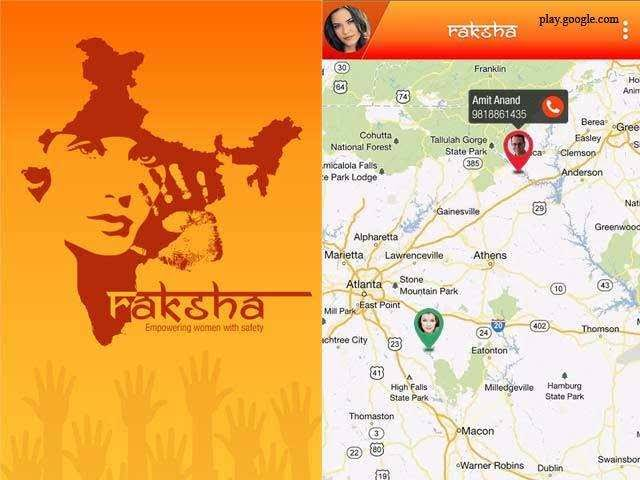 Raksha safety app