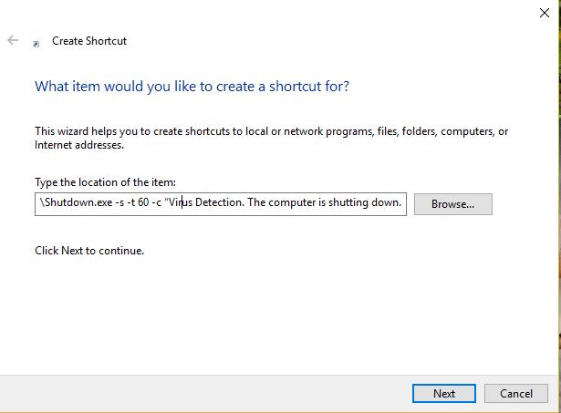 Shutdown Virus.