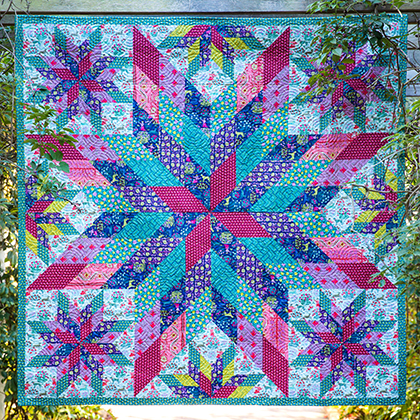 Constellation Colorful Quilt Free Pattern