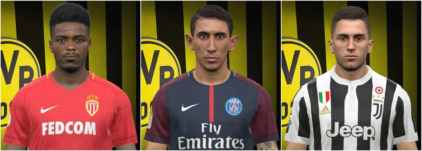 PES 2017 Jemerson, Di Maria and Bentancur face by FaceEditor Jefferson_SF