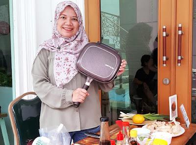 cara mudah praktis masak nasi ayam hainan dan saba fish teriyaki bento marinate dengan happycall titanium double pan nurul sufitri travel lifestyle blogger culinary review