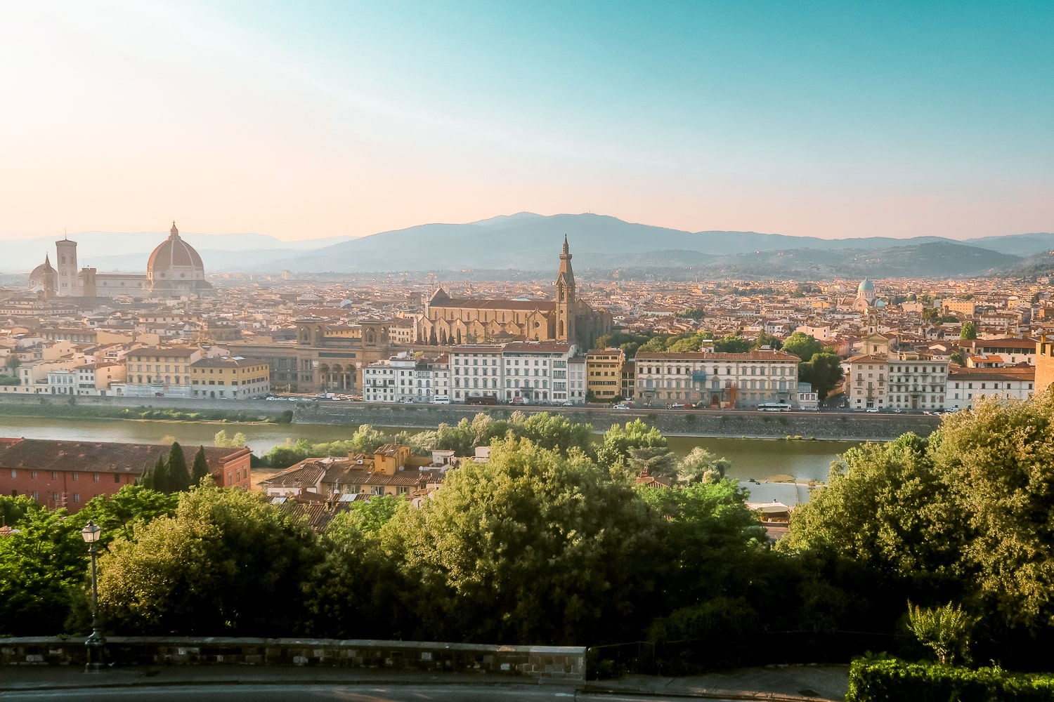 Sunset Viewpoint in Florence Italy