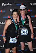Holly and Amy at the Finish