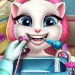لعبة تنظيف اسنان القطة انجيلا