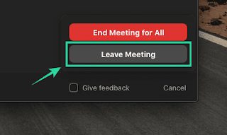 Zoom Leave Meeting Button