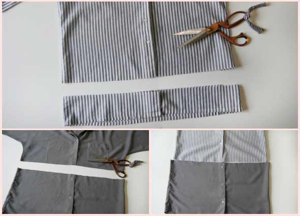 camisa, reciclar, transformar, bricomda, moda, customizar