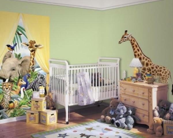 dormitorio bebé selva