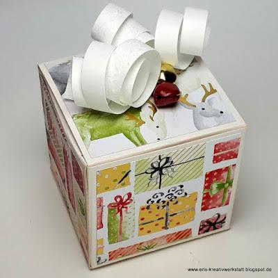 """Kleine weihnachtliche Geschenkverpackung mit Designerpapier """"Zur Weihnachtszeit"""" Stampin' Up! www.eris-kreativwerkstatt.blogspot.de"""