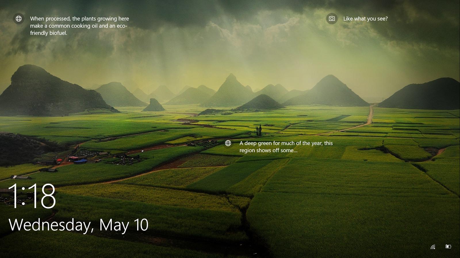 Nature Lock Screen Screensaver Windows 10 Wallpaper