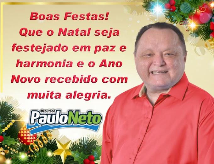 Mensagem de Natal e Ano Novo do deputado Paulo Neto