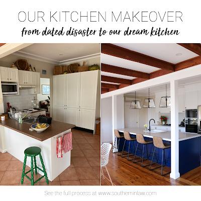 Hamptons Kitchen Makeover on a Budget Sydney Australia