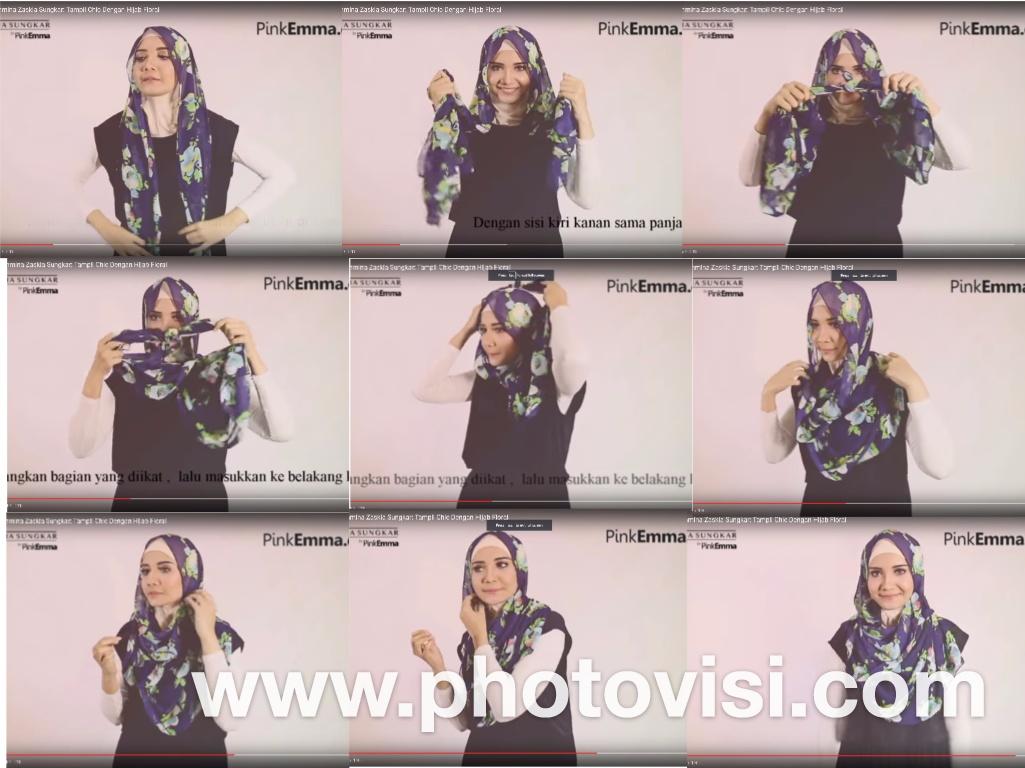 11 Tutorial Hijab Ala Zaskia Sungkar Pashmina Segi Empat