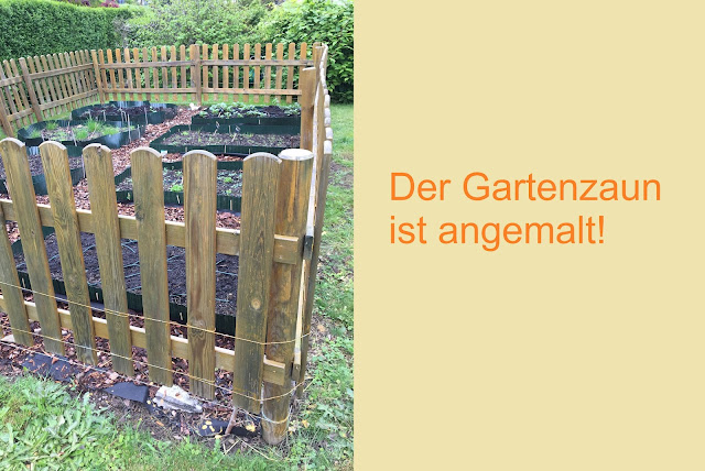 lasierter Holz Gartenzaun