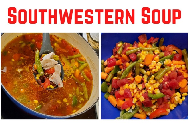this is a southern soup in the pot with vegetables collage