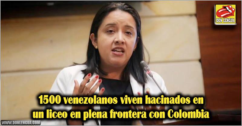 1500 venezolanos viven hacinados en un liceo en plena frontera con Colombia
