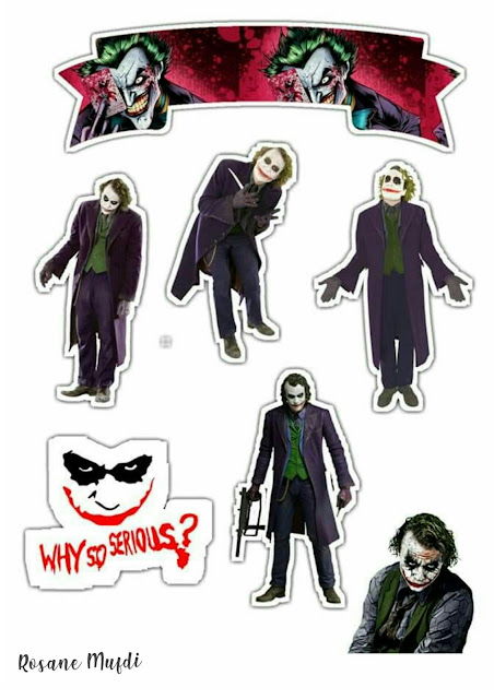 Joker: Free Printable Cake Toppers