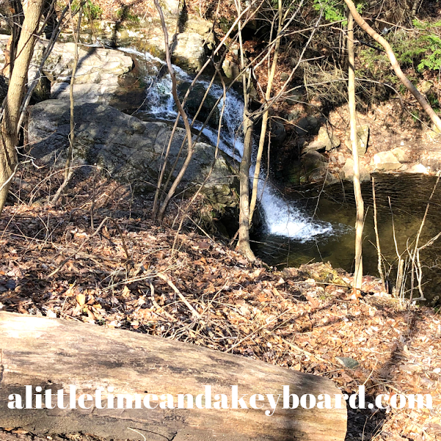 First glimpse of Cascade Falls at Patapsco Valley State Park in Maryland