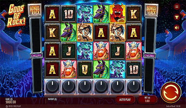 Main Gratis Slot Indonesia - Gods Of Rock (Thunderkick)