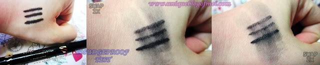 Max Factor Masterpiece High Precision Liquid eyeliner review swatch 2