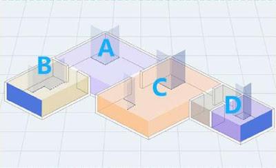 Xây dựng bản đồ 2D quét các vật thể để thiết lập sơ đồ phòng