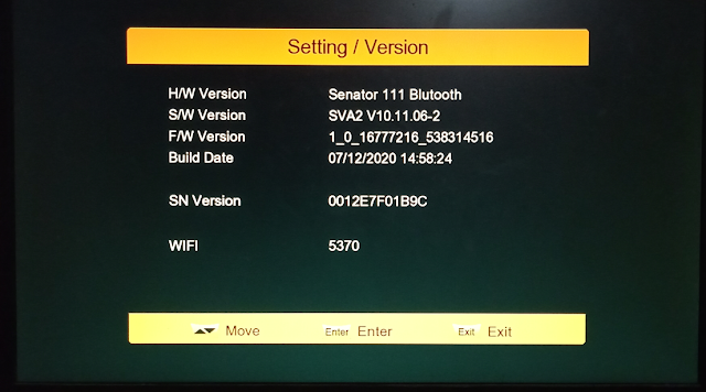 SENATOR 111 BLUTOOTH 1506TV NEW SOFTWARE WITH GLOBAL AUDIO & ALFA PRO OPTION
