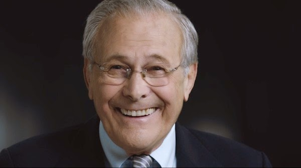 Donald Rumsfeld in Errol Morris' The Unknown Known