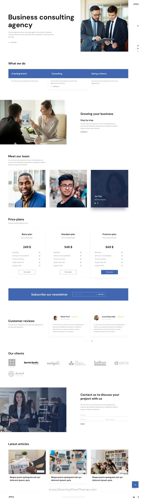 Landing page Adobe XD Template