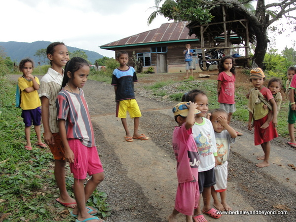 children at Melo Village on Flores Island in Indonesia