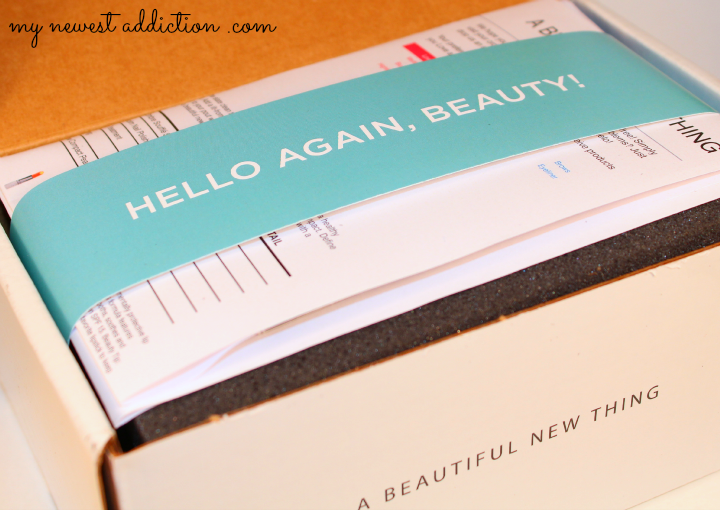 wantable january 2014 makeup subscription box open