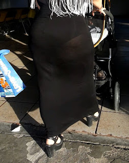Sexy madura trasero redondo vestido transparente