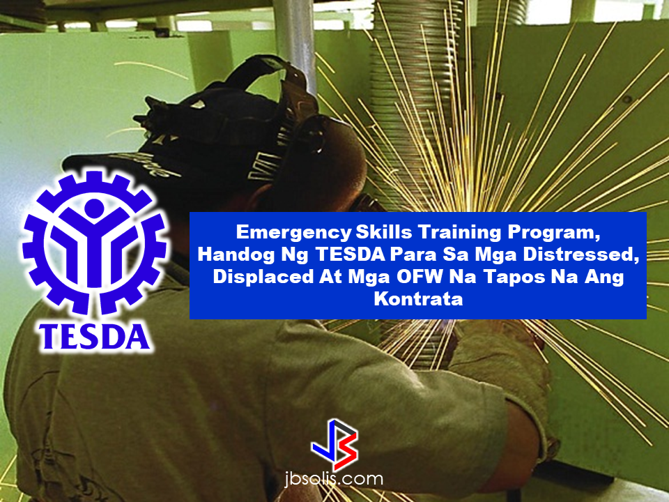 The new Emergency Skills Training from Technical Education and Skills Development Authority (TESDA) which only started this June is for the Overseas Filipino Workers (OFWs) who are distressed, displaced and who has already finished their contracts abroad.  The OFWs will be trained for various skills like carpentry, masonry, welding, plumbing, heavy equipment operator, heavy equipment mechanic, technical drafting, among the courses which are presently in-demand in the market.  The training will last for a month and the trainees will be issued a certificate from TESDA. To avail of the skills training program, qualified OFWs must present their employment certificate fro their company abroad and the duly accomplished application form  with photo at any TESDA offices near their area or they can visit TESDA website at www.tesda.gov.ph to register.  TESDA aims to assist returning OFWs to find employment or start their own business using the skills they acquired from this program. According to TESDA , about 85 percent of their trainees has either find new jobs locally or abroad or have already started their own business in the country.  Meanwhile, TESDA mentioned the most in-demand courses available on TESDA website which the OFWs can study for free.  Here are the most in-demand courses according to TESDA database:   1. Shielded metal arc welding (course II) - 52,650 enrollees  2. Cookery - 51,083 enrollees  3. Food and beverage service - 50,646 enrollees  4. Bread and pastry production - 47,728 enrollees  5. Housekeeping - 43,993 enrollees  6. Electrical installation and maintenance - 35,824 enrollees  7. shielded metal arc welding (course I) - 27,839  8: Computer systems servicing - 24,468 enrollees  9. Bookkeeping - 23,569 enrollees  10. Contact center services - 23,228 enrollees Read More:      ©2017 THOUGHTSKOTO
