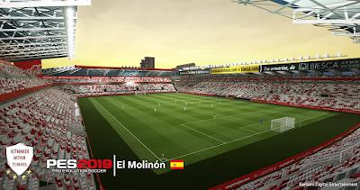 PES 2019 Stadium El Molinón by Arthur Torres