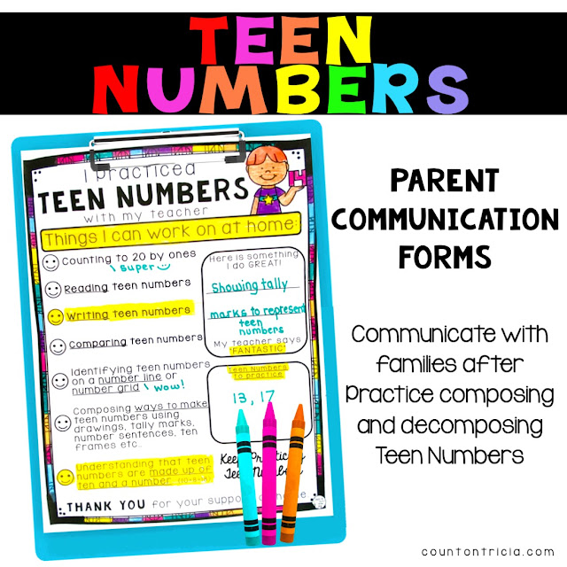 Teen Number Activities and Ways to Teach Teen Numbers to your Kindergarten Math Student