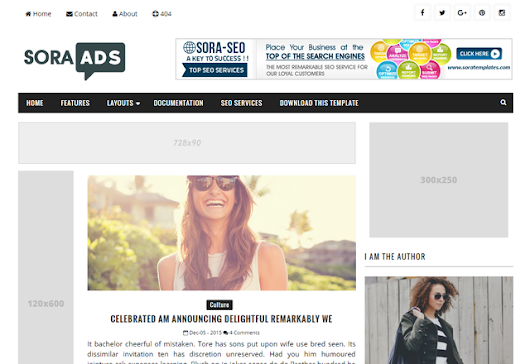 Sora Ads Blogger Templates - Kaizentemplate - Rebuild Another Awesome Blogger Templates