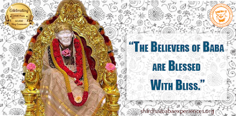 Blessed With Bliss - Sai Baba Idol On Throne Image
