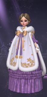 Purple Queen Marie Dress