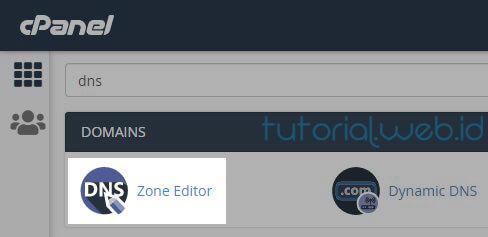 Cara Verifikasi Domain Melalui Data DNS di Cpanel 1 Pilih Zone Editor