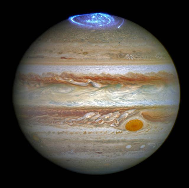 Aurora boreal en Júpiter