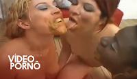 porno nojento de mulheres com coco