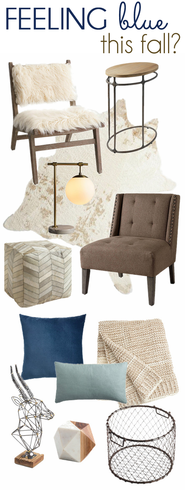 Blue Neutral Fall Decorating