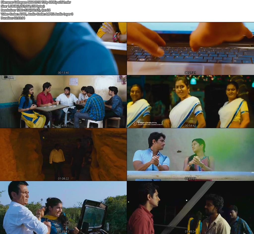 Udhayam NH4 2018 720p HDRip x264 | 480p 300MB | 100MB HEVC Screenshot