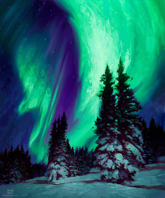 Northern Lights by Rob Rey - robreyfineart.com
