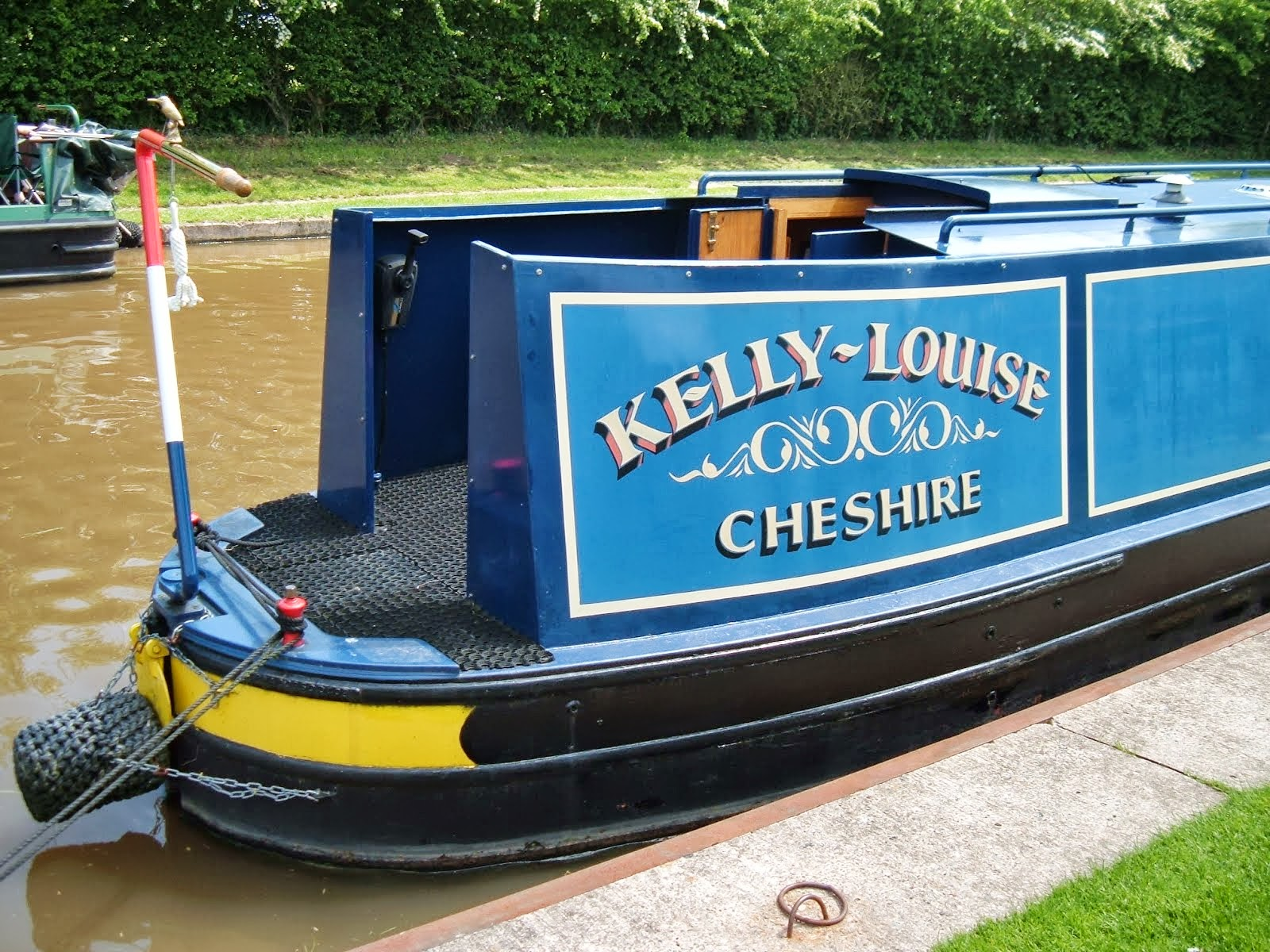 The Travels Of Le Randonneur Narrowboat Painting