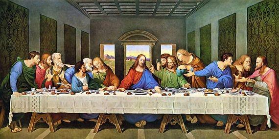 لوحة العشاء الاخير لوحة جدارية للفنان الإيطالي  ليوناردو دا فينشي