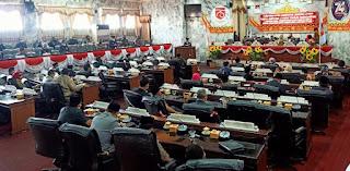 Paripurna DPRD, Devisit Anggaran Lampura Mencapai Rp40 Milyar