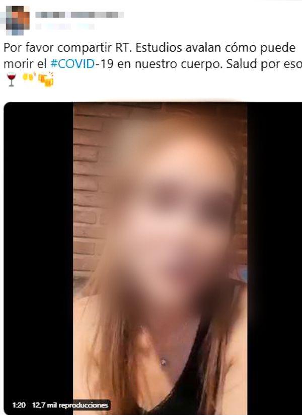 Consumir alcohol no mata al coronavirus