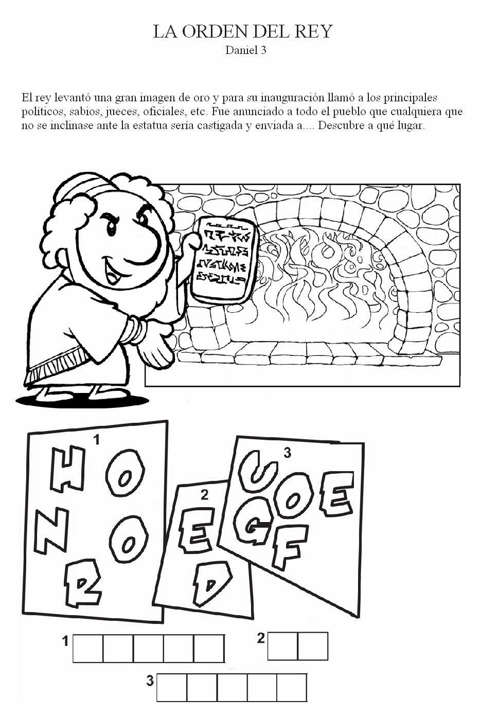 Atractivo Daniel Para Colorear Patrón - Dibujos Para Colorear En ...
