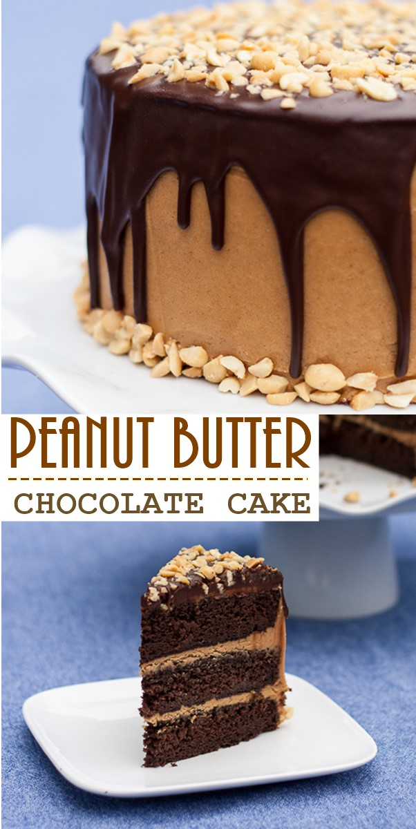 PEANUT BUTTER CHOCOLATE CAKE #cakerecipes
