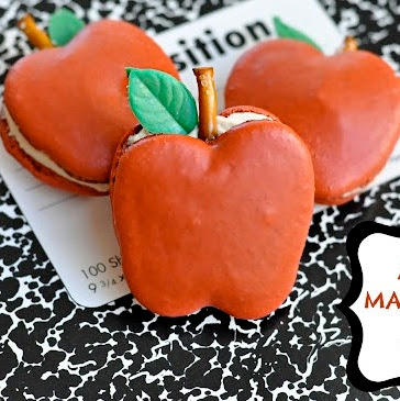 Apple Shaped Macarons with Caramel Filling Recipe