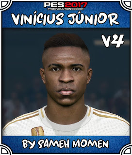 PES 2017 Faces Vinicius Júnior by Sameh Momen